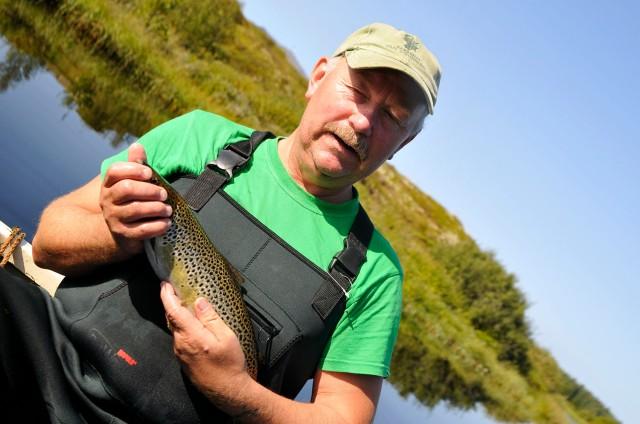 Helge ble etterhvert veldig glad i fisken.